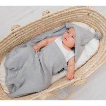 Siva pletema spalna vreča za dojenčke Lullalove
