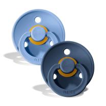 Duda BIBS - Sky Blue & Steel Blue 6-18M (2 kosa)