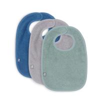 Otroški slinčki frotir ash green, storm grey, jeans blue (3 kosi), Jollein