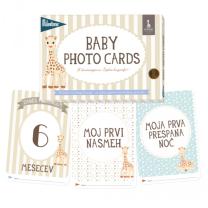 MILESTONE™ kartice za fotografiranje dojenčka SLO - Sophie la Girafe (Limited Ed.)