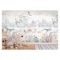 Stenske tapete za otroško sobo PIRATI (300x280 cm), Malumi