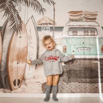 Stenske tapete za otroško sobo SUMMER VIBES (300x280cm), Malumi