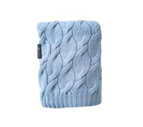 svetlo modra pletena merino volnena odeja 80x100 cm lullalove