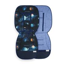 Melange modra dvostranska blazina za voziček TEMNO MODRA galaxy, Beztroska