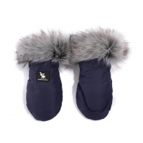 Temno modre rokavice za voziček YUKON (univerzalne), Cottonmoose