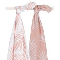 Pudrasto roza tetra plenica NATURE (115x115 cm) – 2 kosa, Jollein®