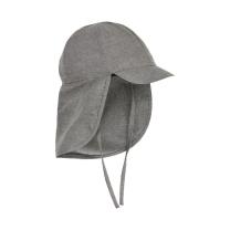 Jeans siv klobuček - kapa s šiltom za dojenčka z UV zaščito (UPF 50+) 6-12 m – MID GREY MELANGE, En Fant
