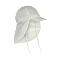Kremno bel klobuček - kapa s šiltom za dojenčka z UV zaščito (UPF 50+) 6-12 m – MARSHMALLOW WHITE, En Fant