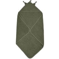 Vojaško zelena brisača s kapuco