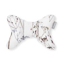 MELANGE BEŽ potovalni vzglavnik metuljček KREMNO BEL suhe rože, Beztroska