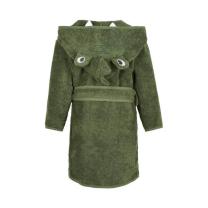 Zelen otroški kopalni plašč iz organskega bombaža 110/116 cm DINOZAVER, Pippi®
